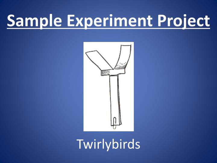 Sample Experiment Project