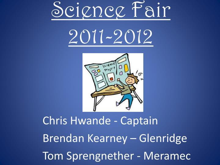 science fair 2011 2012 n.