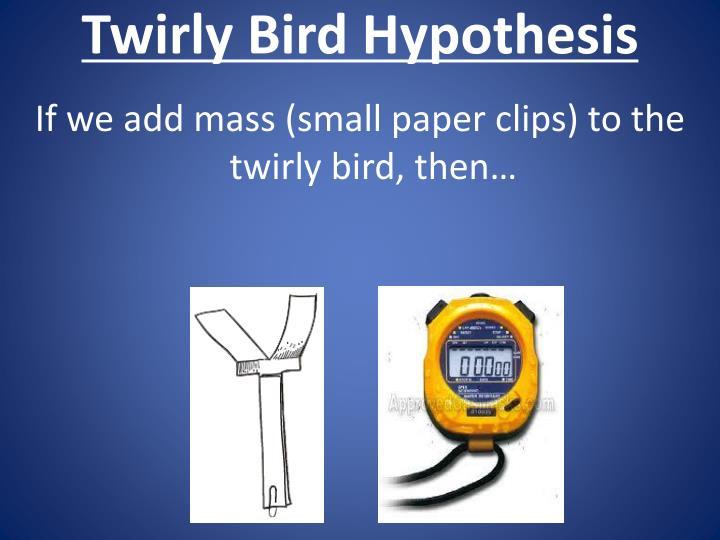 Twirly Bird Hypothesis