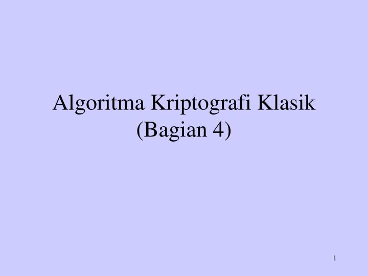 algoritma kriptografi klasik bagian 4 n.