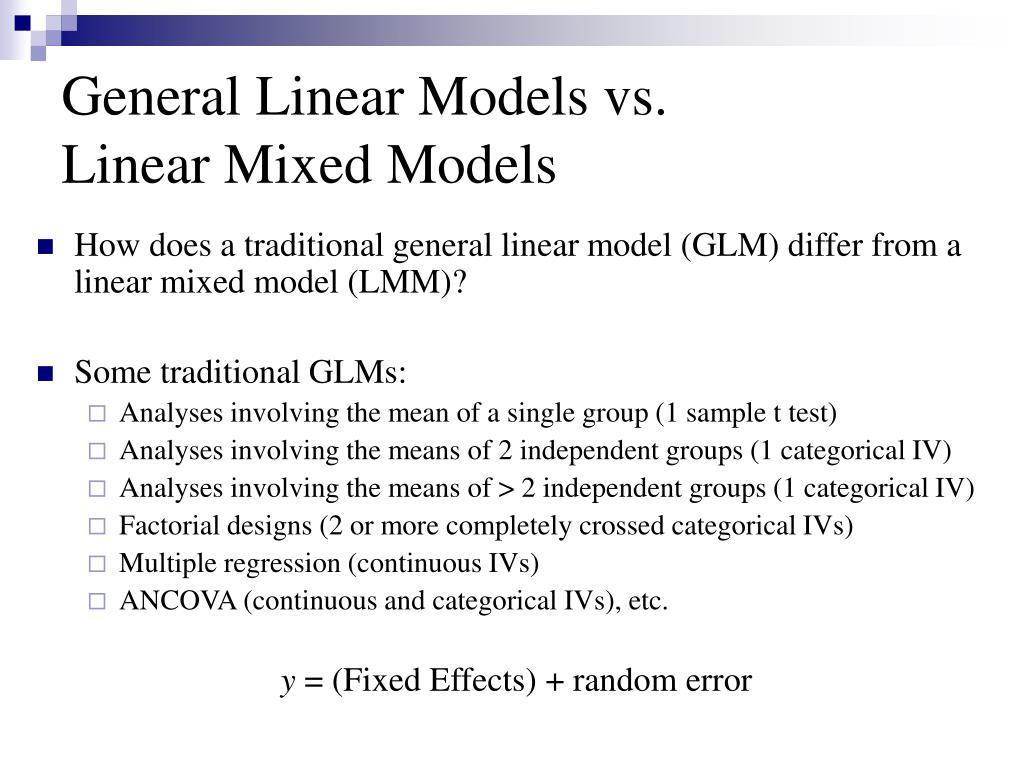 PPT - Linear Mixed Models: An Introduction PowerPoint