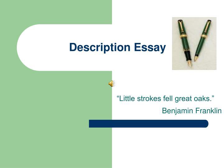 description essay n.