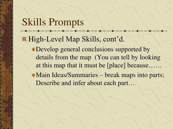Skills Prompts