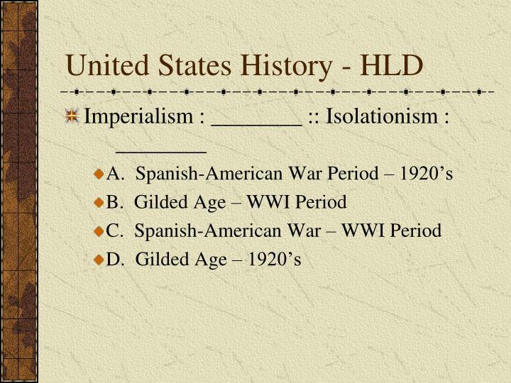 United States History - HLD
