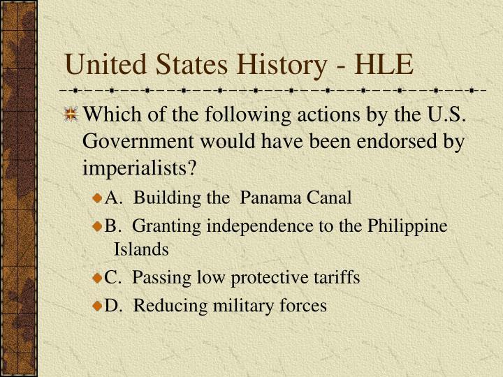United States History - HLE