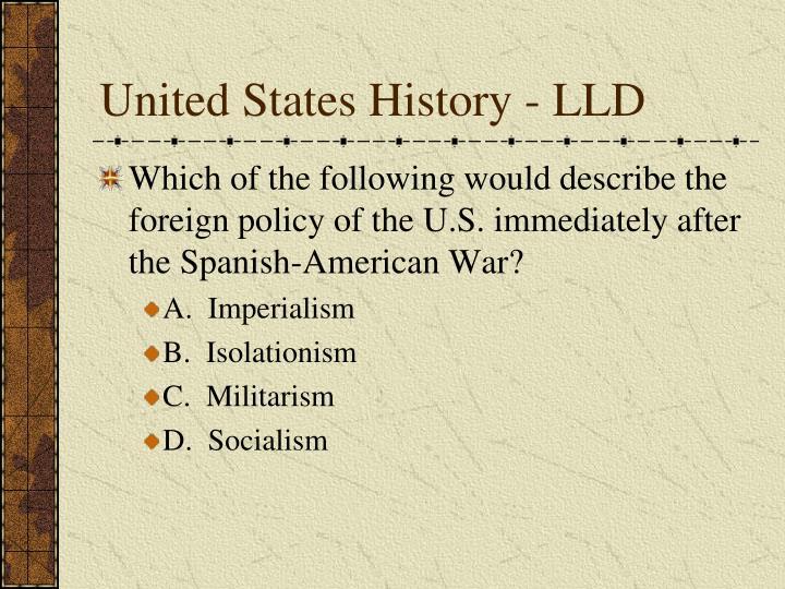 United States History - LLD