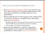 the law of large numbers cont