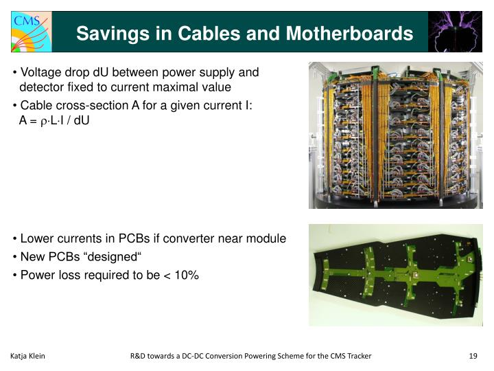 Savings in Cables and Motherboards