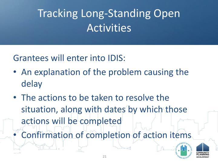 Tracking Long-Standing Open