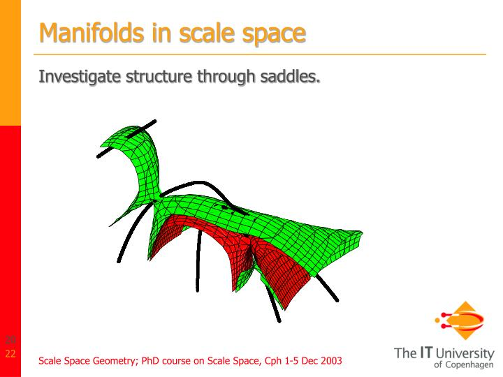Manifolds in scale space
