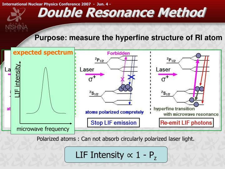 Double Resonance Method