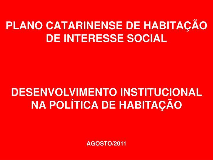 plano catarinense de habita o de interesse social