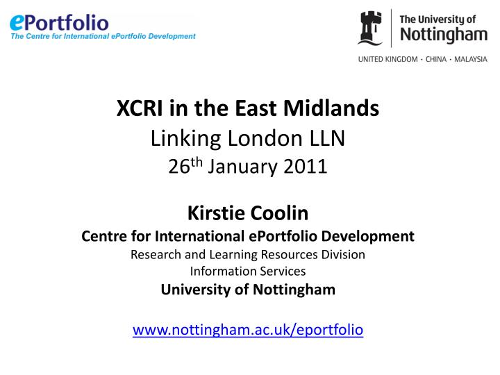 XCRI in the East Midlands