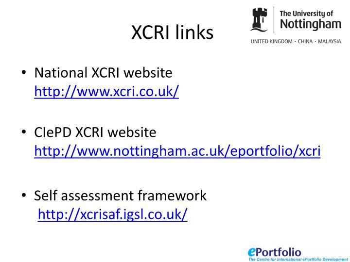 XCRI links