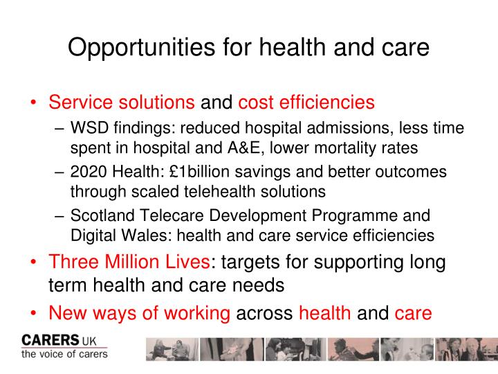 Opportunities for health and care