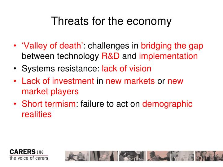 Threats for the economy