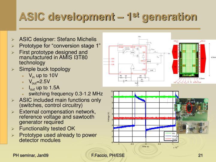 ASIC development – 1