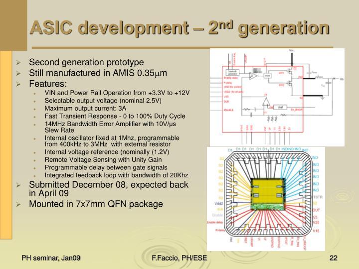 ASIC development – 2