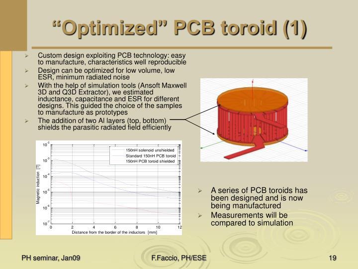 """""""Optimized"""" PCB toroid (1)"""