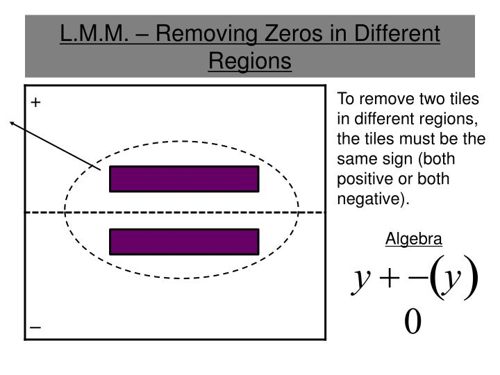 L.M.M. – Removing Zeros in Different Regions