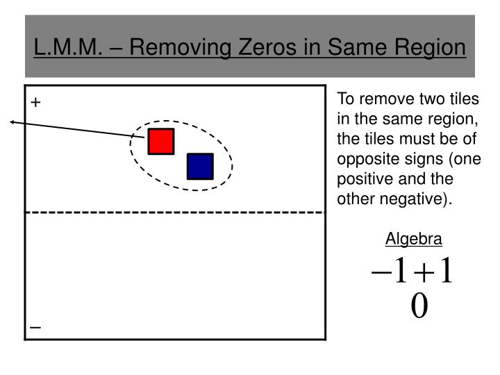 L.M.M. – Removing Zeros in Same Region