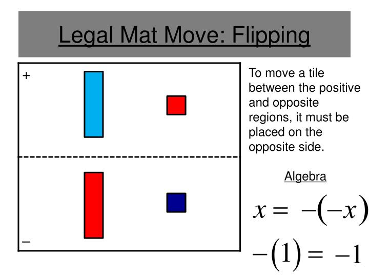 Legal Mat Move: Flipping
