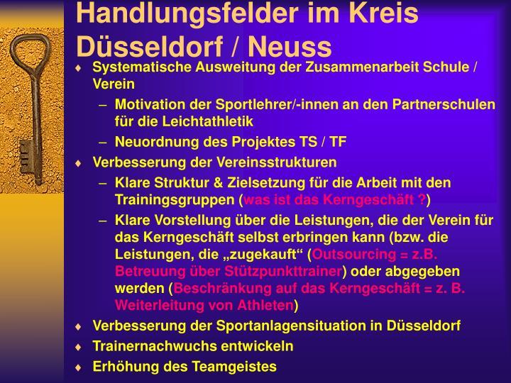 Handlungsfelder im Kreis Düsseldorf / Neuss