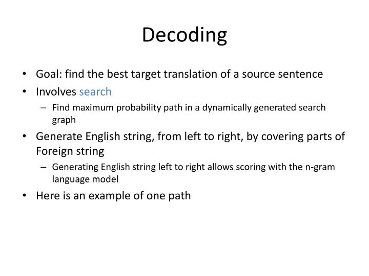 Decoding