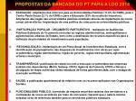 propostas da bancada do pt para a ldo 2014