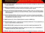 propostas da bancada do pt para a ldo 20141
