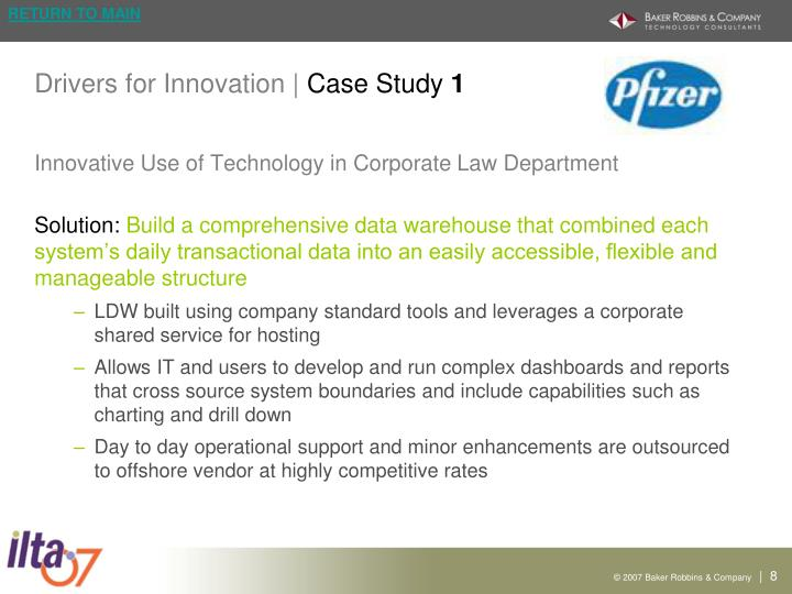 Drivers for Innovation |
