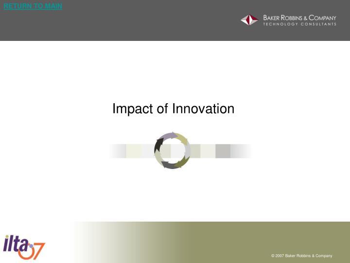 Impact of Innovation