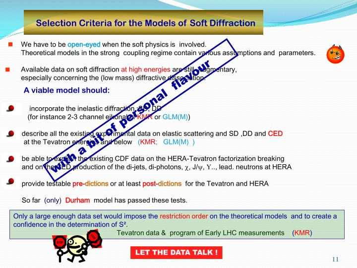 Selection Criteria for the Models of Soft Diffraction