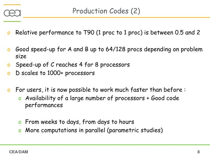 Production Codes (2)