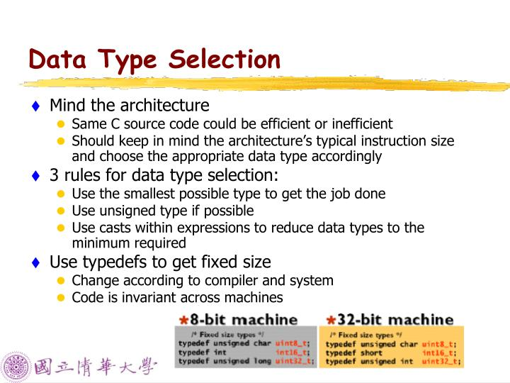 Data Type Selection