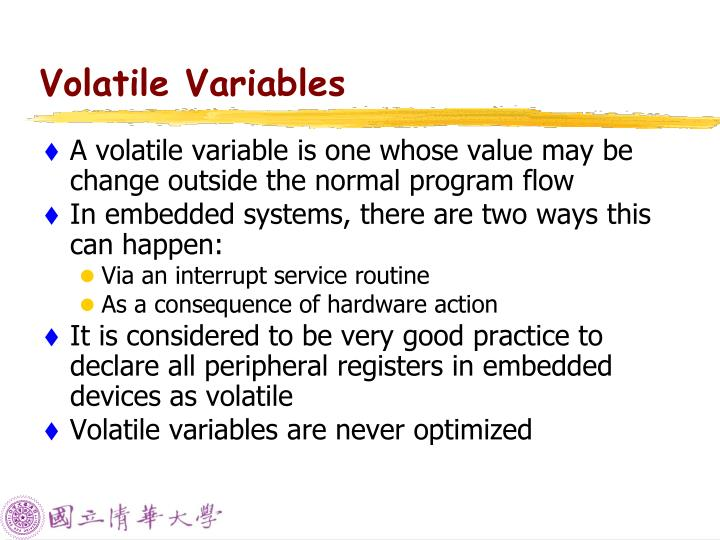 Volatile Variables