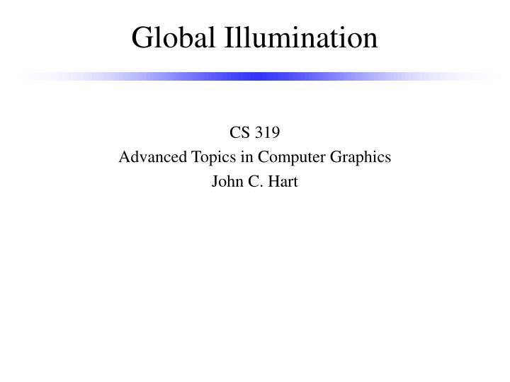 global illumination n.