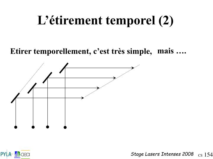 L'étirement temporel (2)