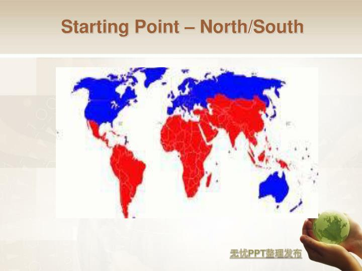 Starting Point – North/South
