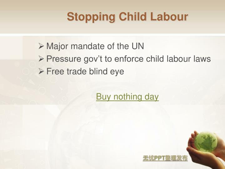 Stopping Child Labour