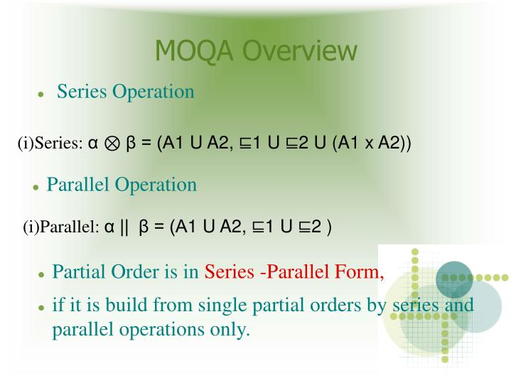 MOQA Overview