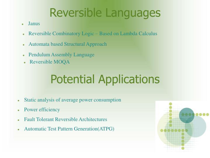 Reversible Languages