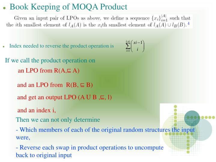 Index needed to reverse the product operation is