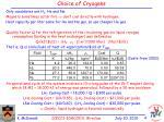 choice of cryogens