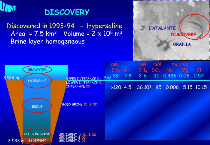 Discovered in 1993-94   -  Hypersaline
