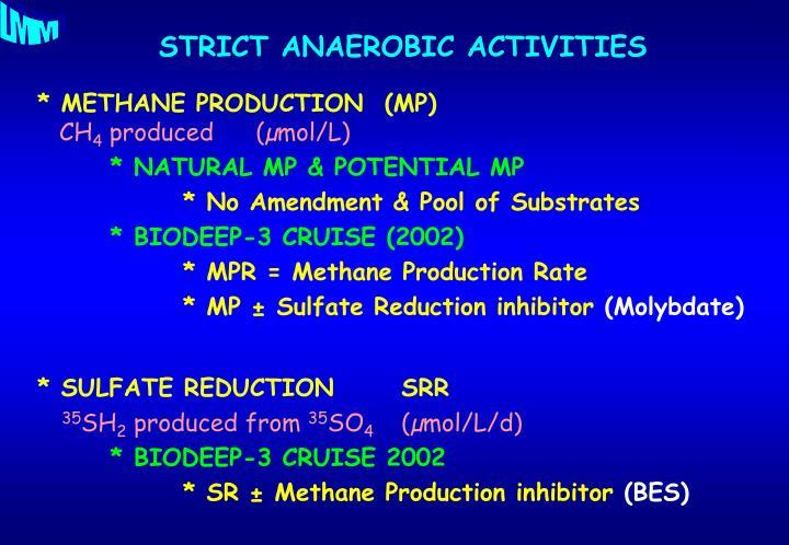 * METHANE PRODUCTION  (MP)