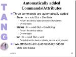 automatically added commands attributes