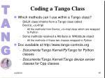 coding a tango class1