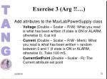exercise 3 arg