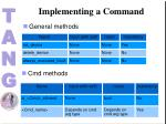 implementing a command4